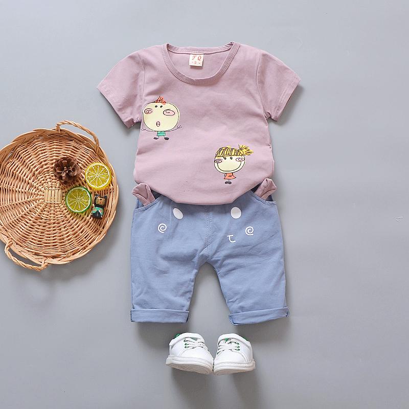 2018新款女宝宝夏装1-3岁女童韩版短袖套装纯棉婴儿童洋气两件套
