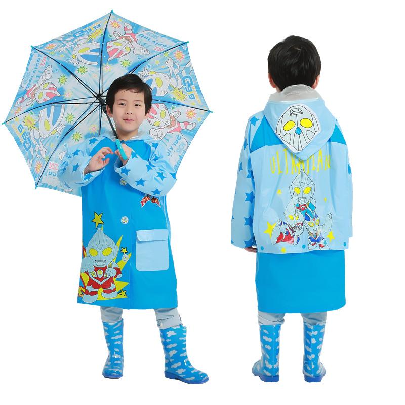29.70元包邮奥特曼儿童雨衣雨裤套装男生雨披大童雨衣雨鞋宝宝幼儿防水雨具