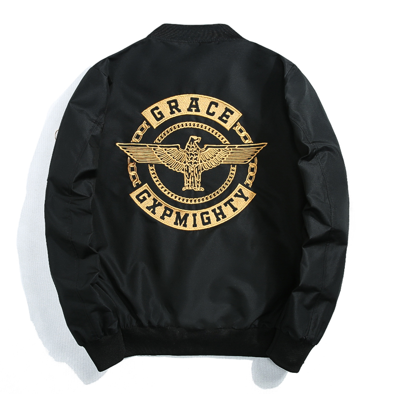 Autumn and winter thickened fashion embroidered Eagle Lovers casual loose pilot jacket jacket Baseball Jacket cotton padded jacket