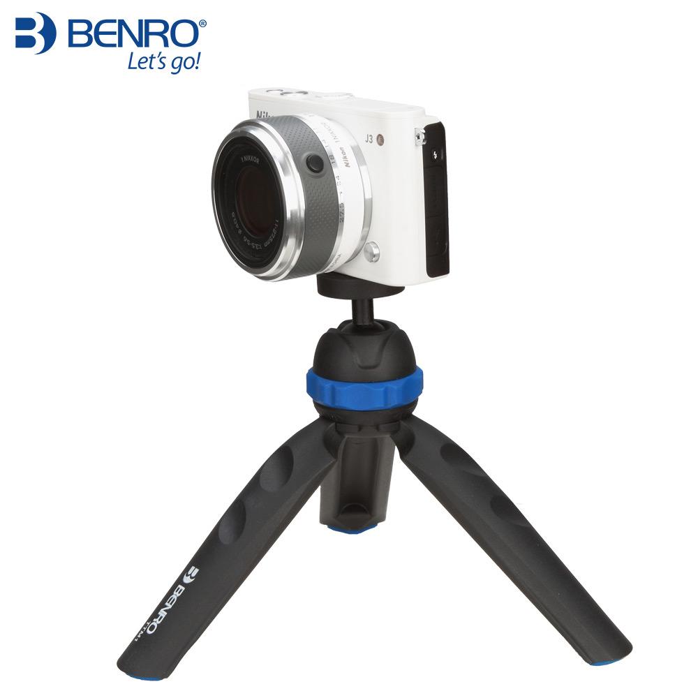 相机微单三脚架便携百诺PP1迷你云台单反手机桌面三角架