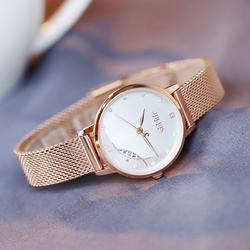 聚利时正品韩版钢带手表女时尚潮流简约防水学生个性日历气质女表