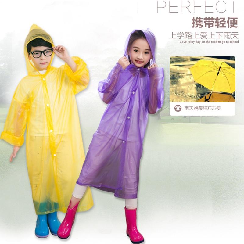 10-10新券一次性雨衣儿童幼儿园男女加厚背书包户外漂流旅行便携防水雨披