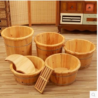 香柏木樽足湯桶蓋付き足湯の木盆厚い家庭用足湯マッサージ香杉木