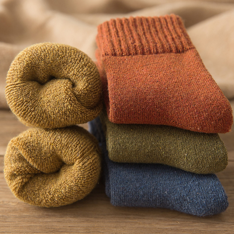 Childrens socks in autumn and winter middle tube socks thickening and keeping warm in winter