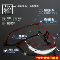 Japan imports fashion ultra-light vintage mirror anti-blue anti-fatigue coating resin lens matte anti-wear eye frame
