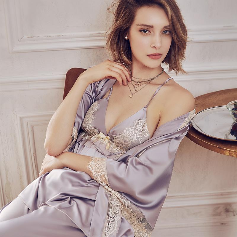 性感夏薄款吊带蕾丝趴晨袍新娘睡裙11月29日最新优惠