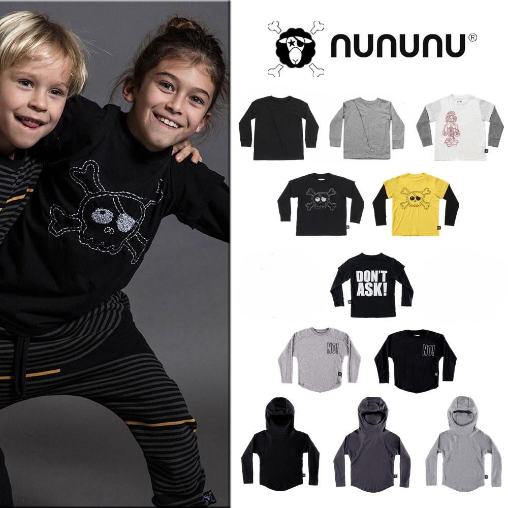 以色列 NUNUNU FW19 正品不退货 涂鸦壁画假两件长袖T恤 国内现货