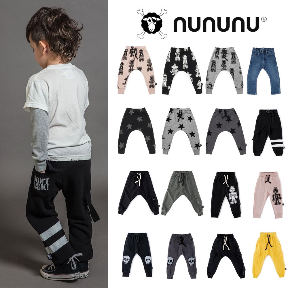 以色列NUNUNU FW19正品不退货 部落图腾星星垮裤休闲裤可亲子现货