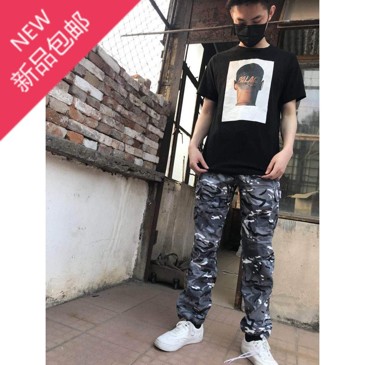 Palace life TRIM T-SHIRT人头剃头人物LOGO字母 圆领短袖T恤男女