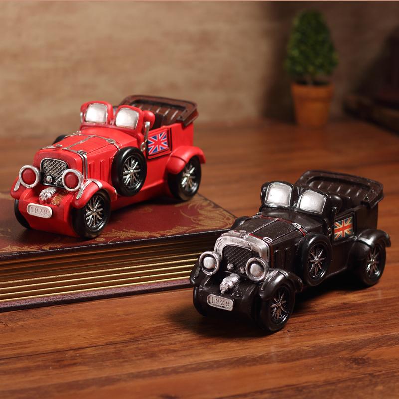 复古美式老爷汽车树脂模型收藏摆件酒柜咖啡馆酒吧装饰品敞篷跑车正品保证