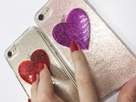 可爱韩版手机壳苹果6splus时尚爱心苹果六手机壳7p新款全包软壳女图片