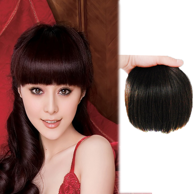 Wig female invisible no trace Qi bangs wig piece one knife invisible no trace simulation hair bangs piece package