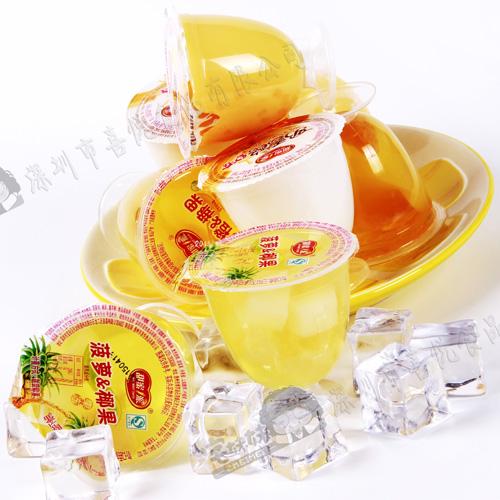 甜蜜1派 120g大酒杯5个装送礼果肉果冻布丁儿童 女生办公室零食