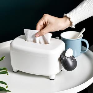 网红纸巾盒抽纸盒客厅茶几遥控器收纳盒创意桌面杂物收纳木质纸盒