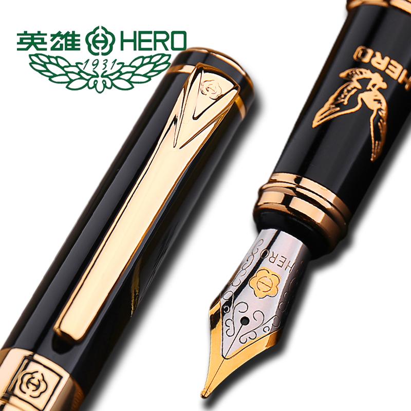 英雄鋼筆1078銥金筆大鵬展翅墨水鋼筆HERO 學生練字 商務 刻字