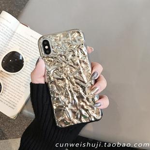 韓國ins錫箔紙8plus適用於蘋果x手機殼XS Max/XR/iPhone7硅膠6s女