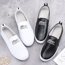 春秋季新款老北京布鞋皮面小白鞋软底防滑单鞋女学生韩版一脚蹬