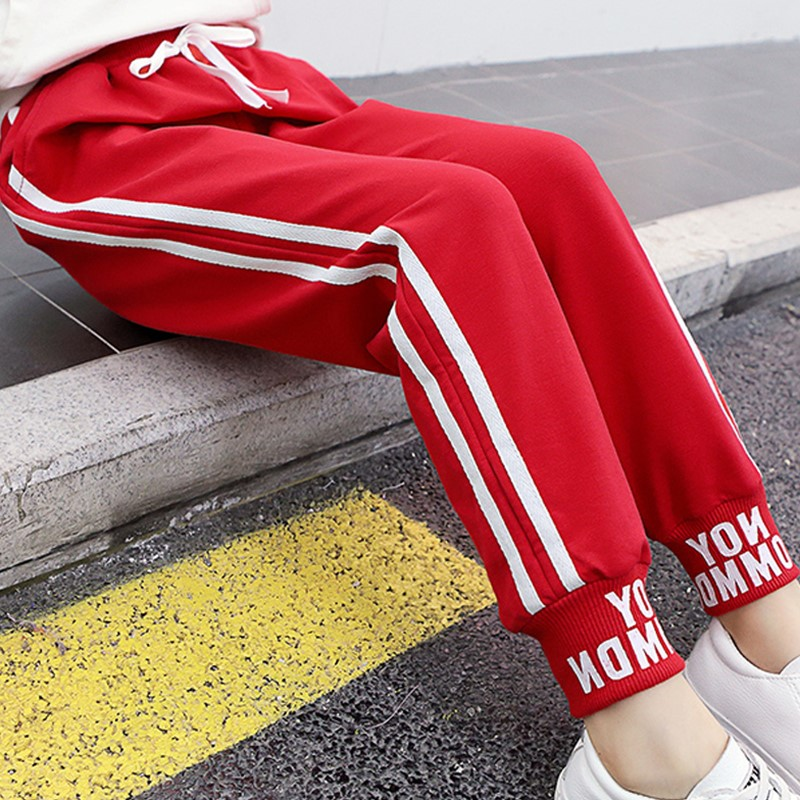 Girls pants fashion 2020 new childrens sports pants middle and big childrens pants foreign style little girls casual pants