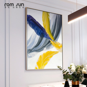 现代简约玄关装饰画轻奢餐厅卧室壁画北欧抽象客厅沙发背景墙挂画