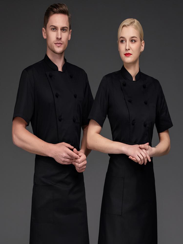 韩式烧烤厨师服短袖面点师傅工作服甜品师傅服装点心师制服烘焙坊