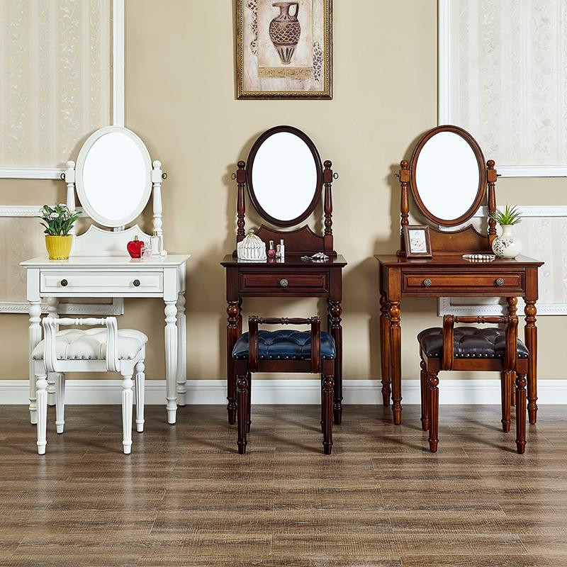 美式梳妆台卧室影楼化妆韩式妆镜满300元可用20元优惠券