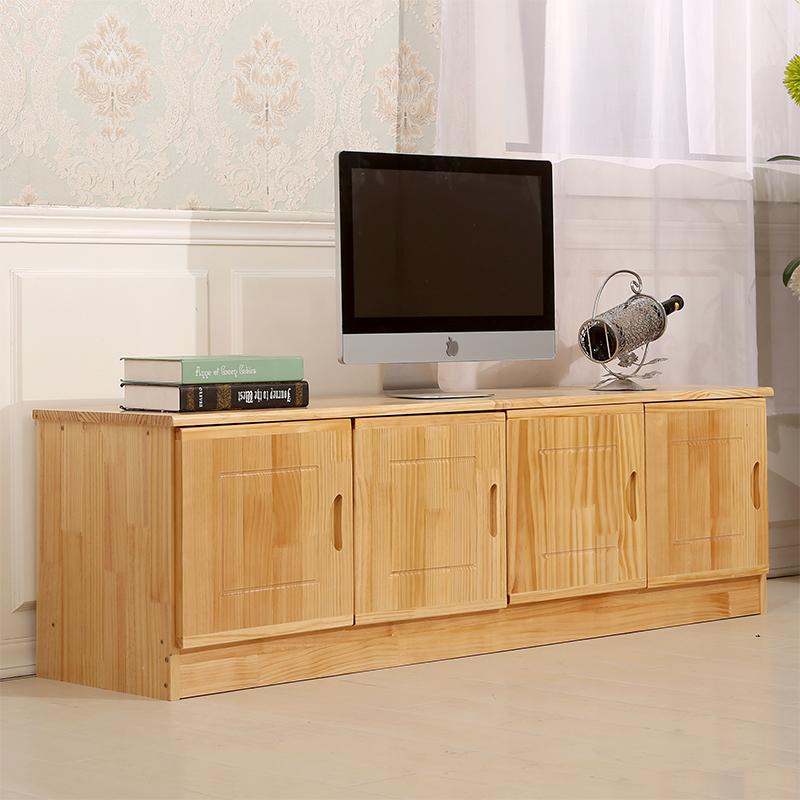包邮实木地柜 矮柜 松木电视柜 储物柜  休闲门边柜 顶柜 可定制