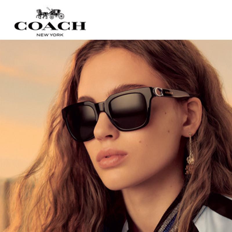 11月02日最新优惠COACH/蔻驰 C系列  亞洲臉型女士潮流个性前卫太阳镜墨镜0HC8240F