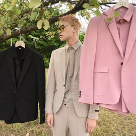 【爱穿帮】发型师小西装套装三件套一套搭配帅气痞帅男装网红西服