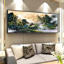 丝绸卷轴画走廊过道壁画张大千事事如意中式装饰画餐厅挂画国画
