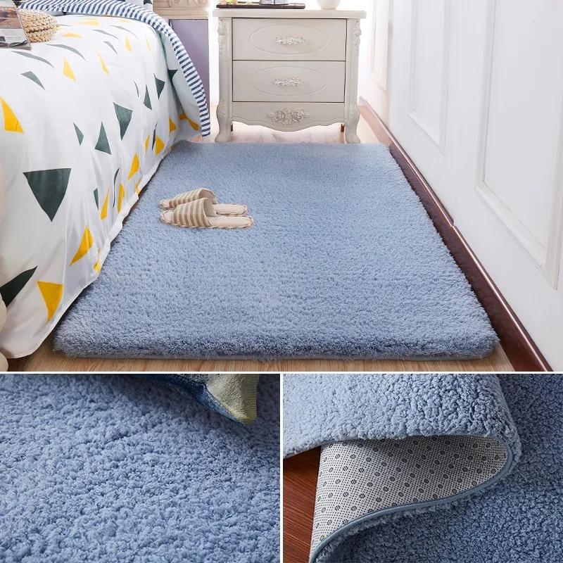 加厚羊羔绒地毯卧室满铺床边毯客厅沙发茶几毯飘窗榻榻米地垫定制