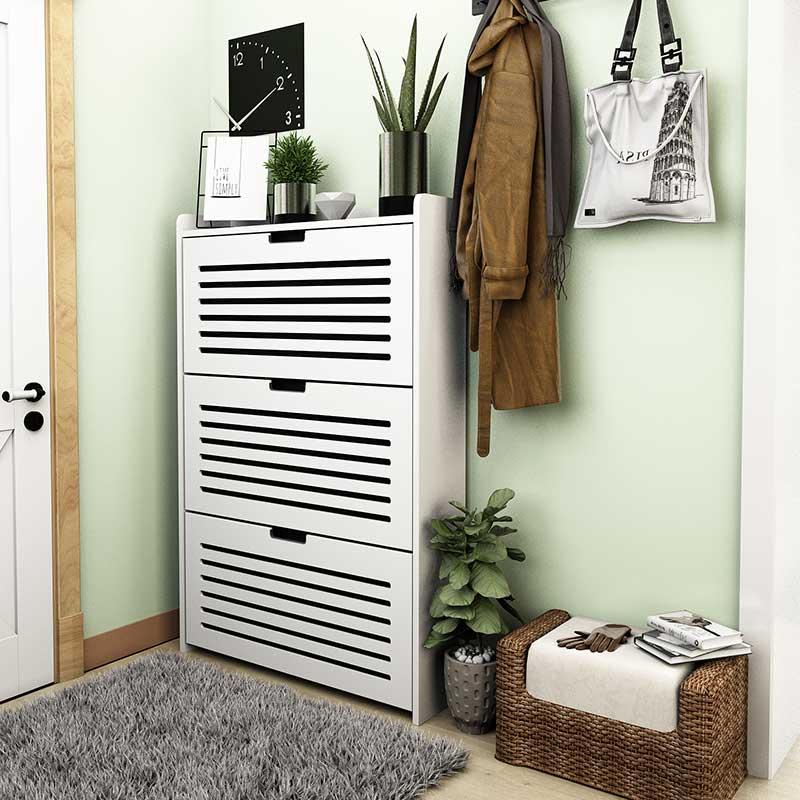 翻斗鞋柜17cm超薄大容量透气镂空可定制定做客厅柜门厅储物柜包邮
