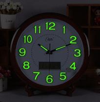 石英机芯日式原木质挂钟包邮木制墙饰时钟简约方形实木钟表