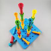 大J小D推荐lauri小钉板蘑菇钉益智早教婴幼儿宝宝插钉子玩具1-2岁