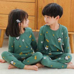 儿童秋衣秋裤套装男童女童纯棉打底保暖内衣男孩宝宝小孩全棉睡衣图片