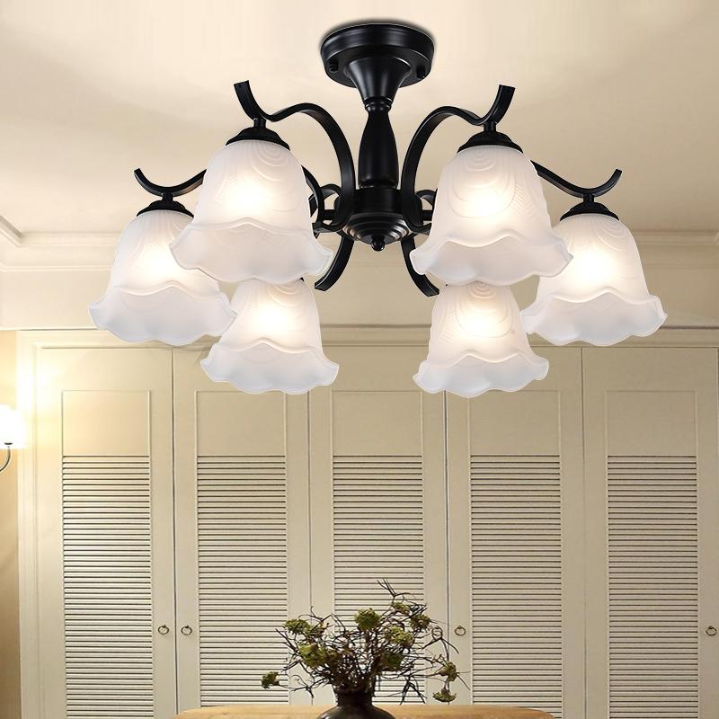 欧式铁艺术复古客厅卧室餐厅吊灯