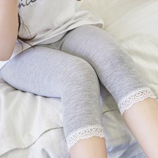 夏季女童纯棉莫代尔七分裤打底裤