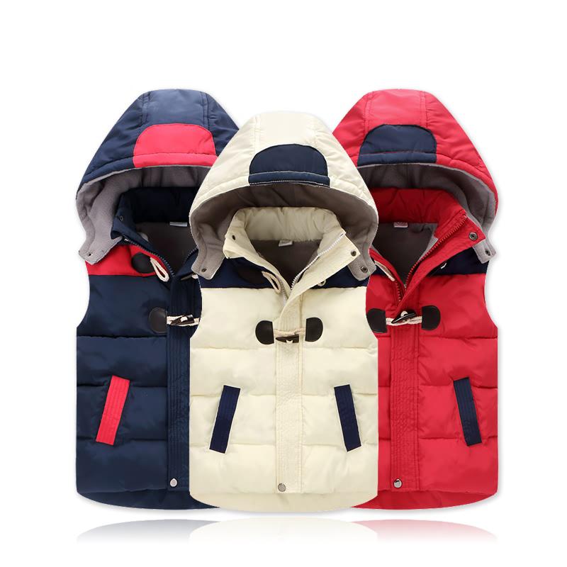 В обратных сезон новый ребенок хлопок одежда жилет тонкий жилет закрытый небольшой мальчиков девочки теплый жилет пальто