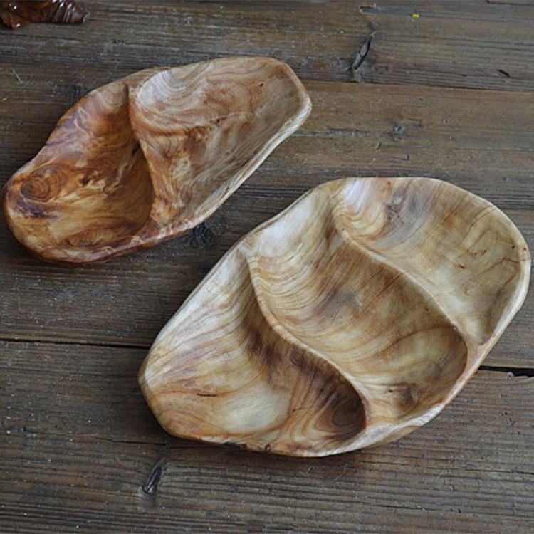 杨名根雕实木分格水果糖果盘多格餐盘木制餐具干果小托盘茶盘杉木