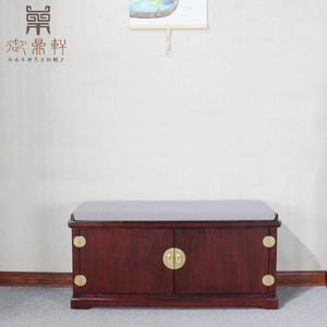 新中式实木进门口换鞋凳入户沙发穿鞋床尾柜长坐凳子储物收纳鞋架