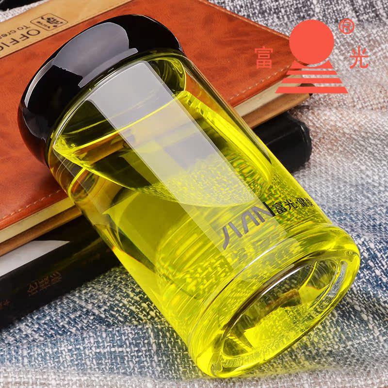 富光單層玻璃杯泡茶杯子大容量帶蓋家用男女 大肚隨手水杯便攜