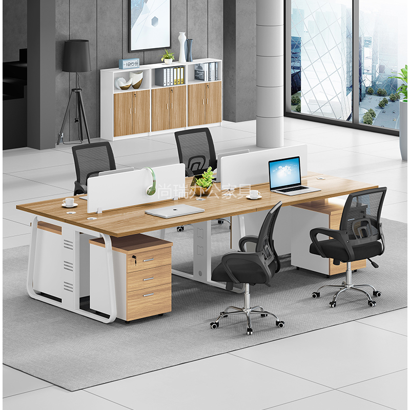 Xian office furniture is simple, modern, 24 / 6-person office desk combination, employee card seat, employee computer desk and chair