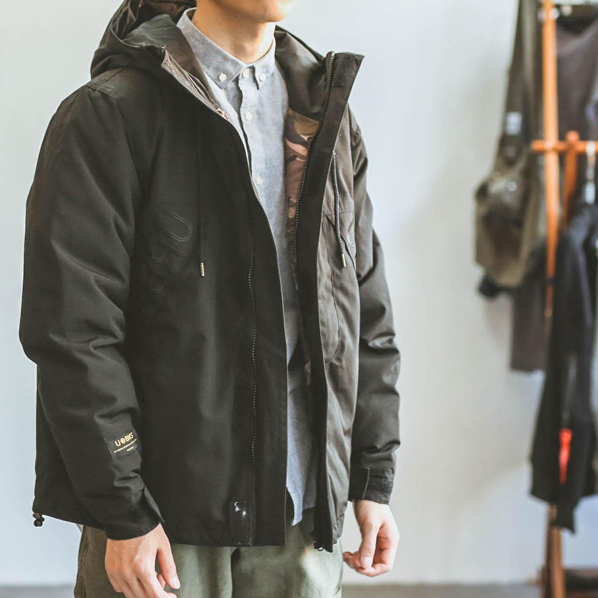 嘿马日系复古冬季加厚飞行员夹克工装外套棉袄棉服潮牌情侣棉衣男