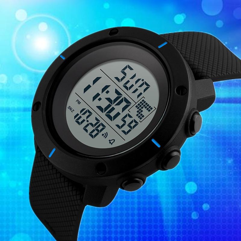 时刻美新款多功能户外运动男士手表防水电子表时尚运动手表倒计时