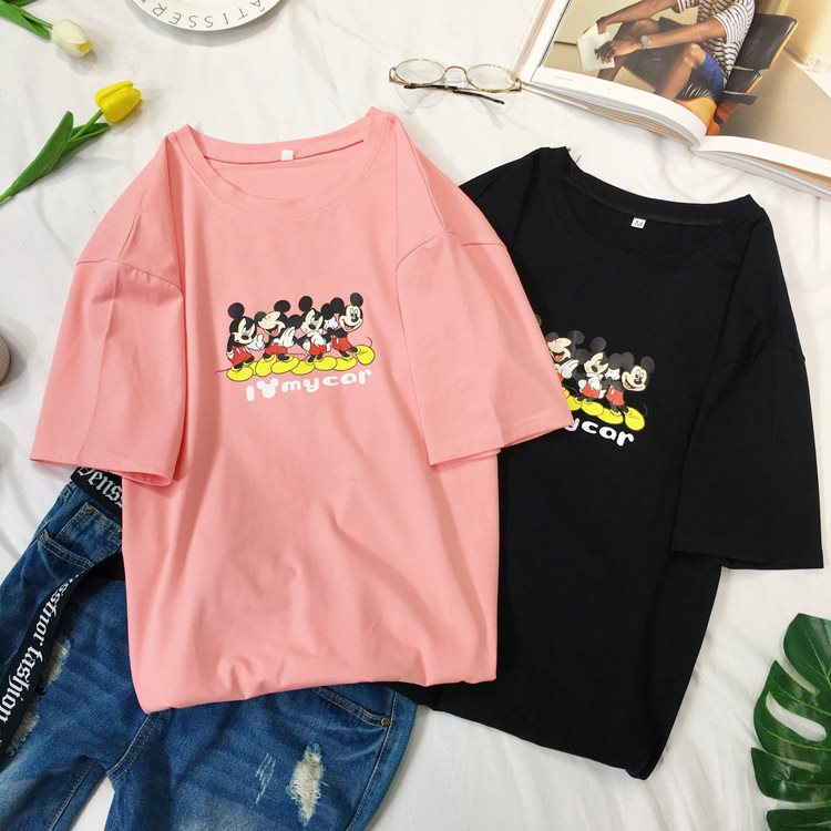 2019 Korea cute cartoon Mickey Mouse T-shirt female Korean