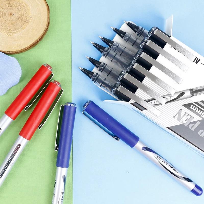 包邮12支 爱好AH―2001签字笔 AIHAO直液式走珠笔 签字笔 中性