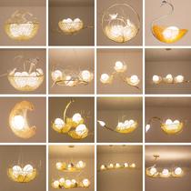 工业风创意餐厅卧室吊灯简约艺术现代灯具阳台鸟巢客厅北欧吊灯