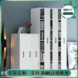 推拉书架带轮抽屉式 可移动书柜隐藏组合储物柜防尘收纳柜隐形书柜