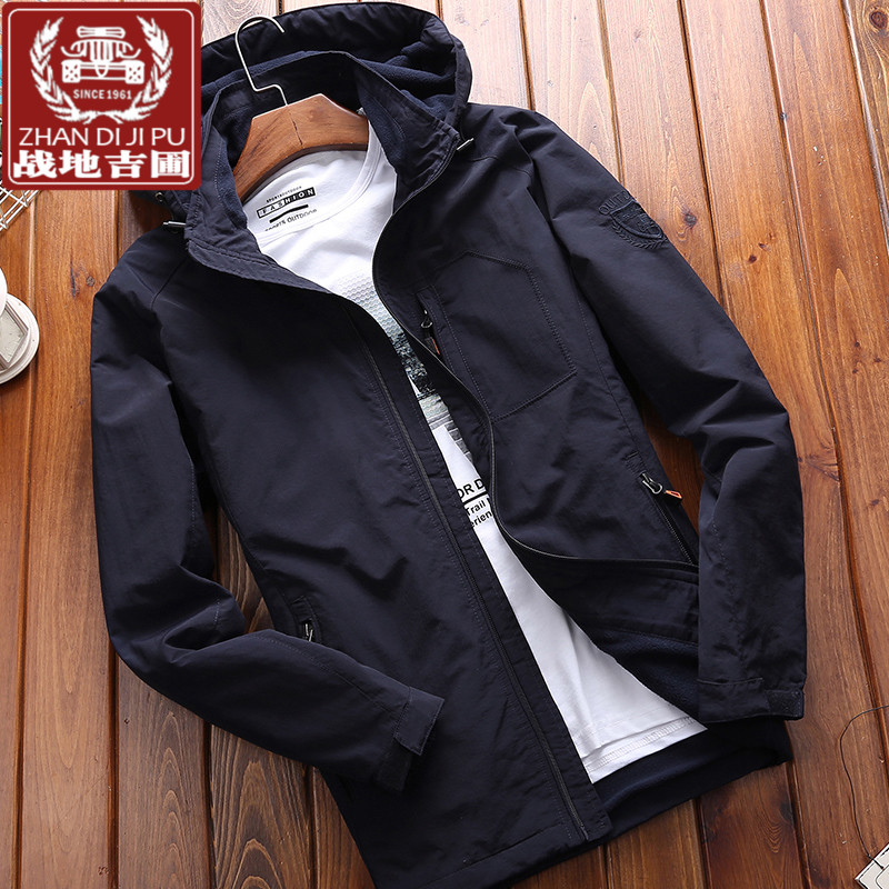 Field Jipu fast dry mens clothing Large Size Youth outdoor autumn and winter medium long jacket sportswear