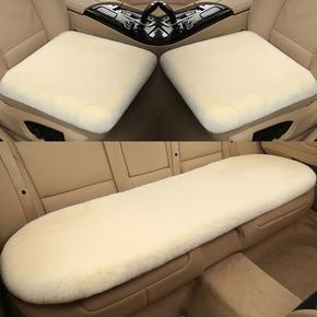 冬季汽车羊毛绒坐垫无靠背三件套座垫短毛兔毛加厚保暖单片小方垫