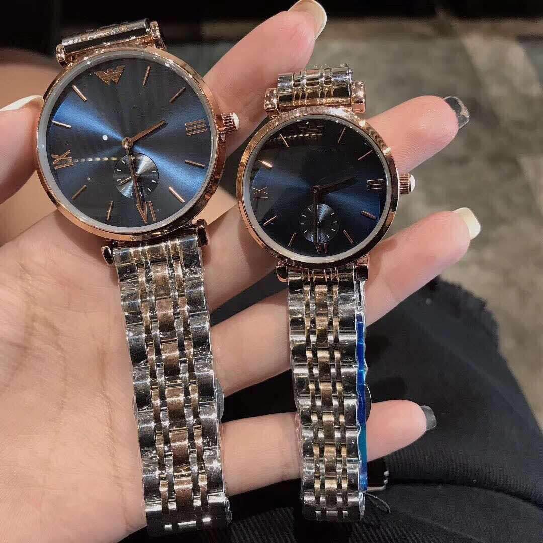 2021新型のmm観覧車の腕時計女性のファッションは簡単です。カップルの石英男性のファッションは金色の満天星です。
